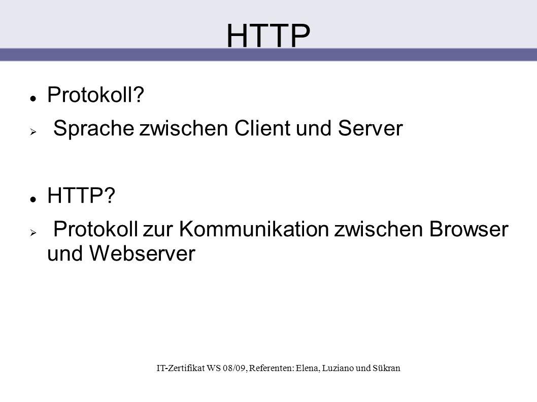 Titel durch Klicken hinzufügen HTTP Protokoll?  Sprache zwischen Client und Server HTTP?  Protokoll zur Kommunikation zwischen Browser und Webserver