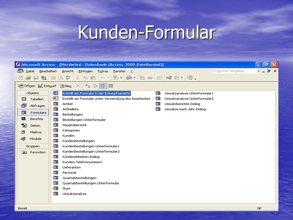 Kunden-Formular