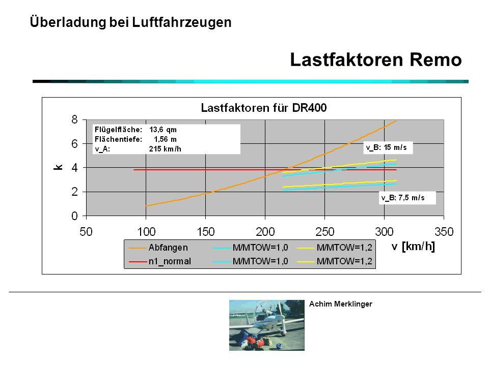 Achim Merklinger Überladung bei Luftfahrzeugen Lastfaktoren Remo