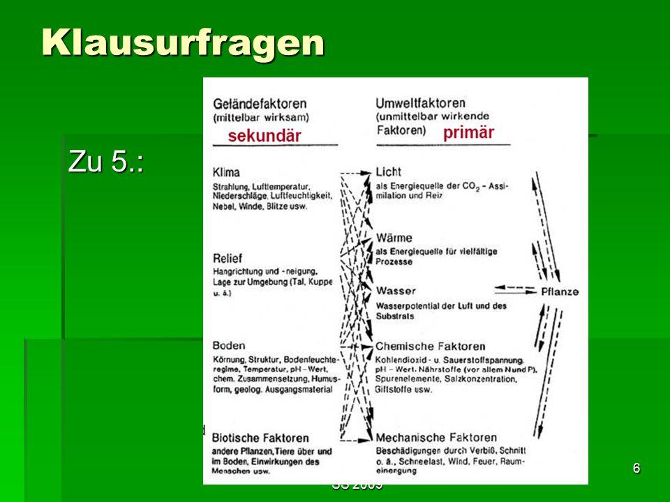Tutorium Claudia Weitnauer im SS 2009 6 Klausurfragen Zu 5.: