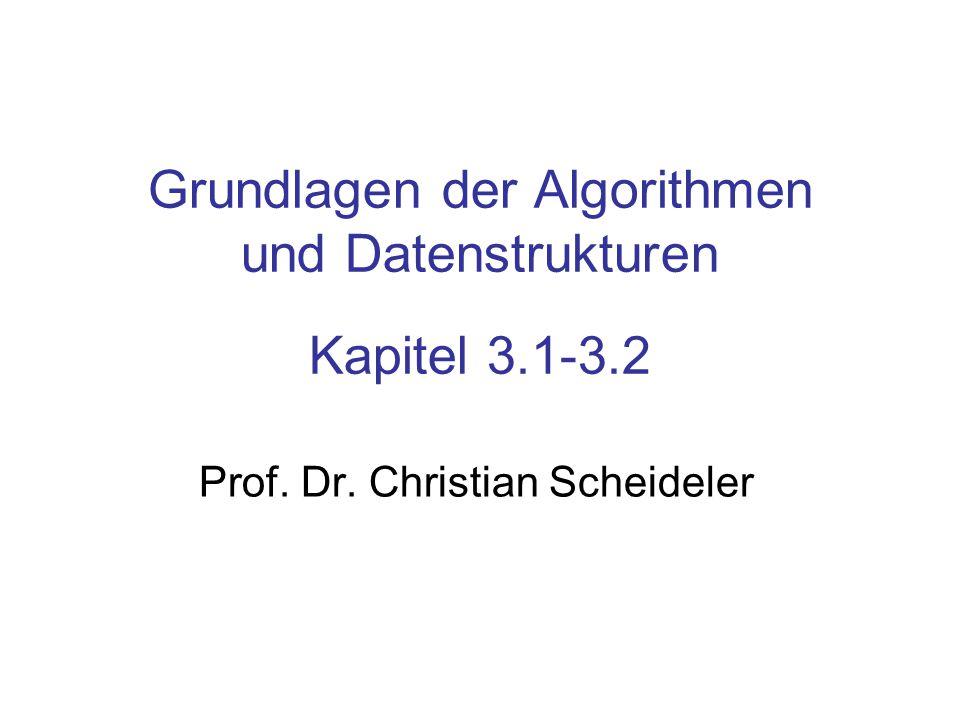 Grundlagen der Algorithmen und Datenstrukturen Kapitel 3.1-3.2 Prof. Dr. Christian Scheideler TexPoint fonts used in EMF. Read the TexPoint manual bef