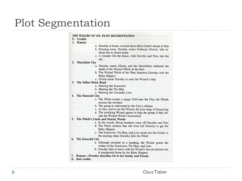 Plot Segmentation Claus Tieber