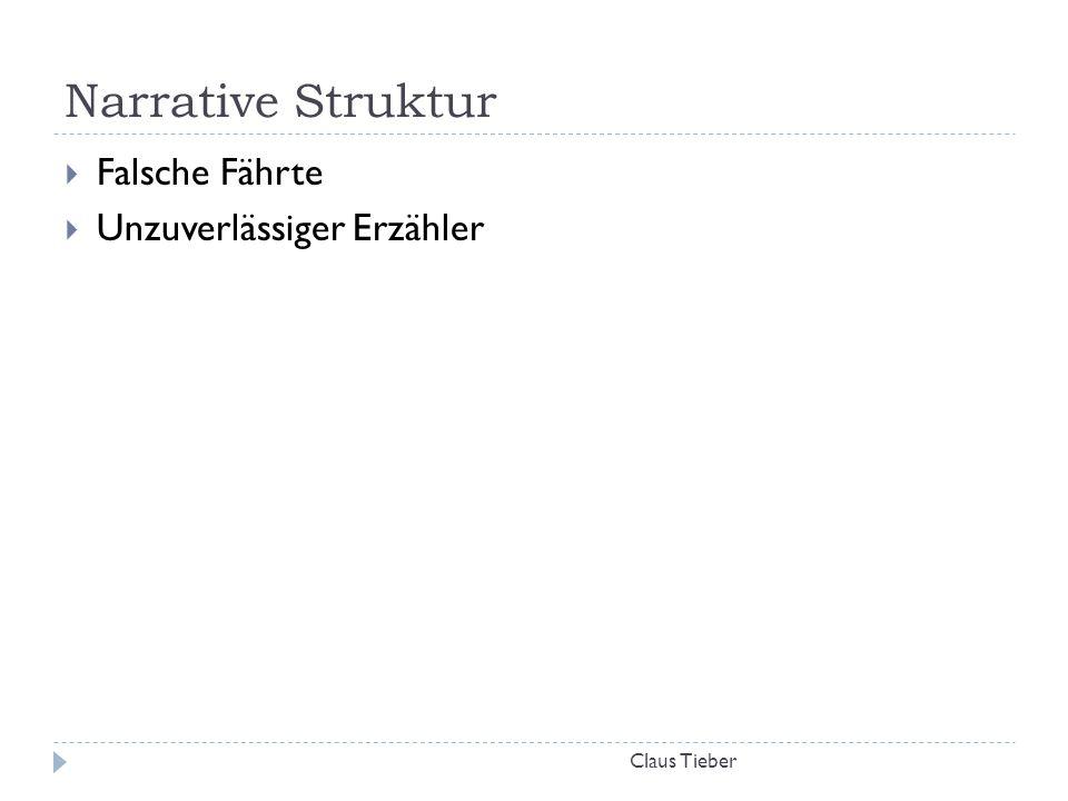 Narrative Struktur Claus Tieber  Falsche Fährte  Unzuverlässiger Erzähler