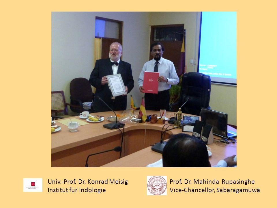 Univ.-Prof. Dr. Konrad Meisig Institut für Indologie Prof.