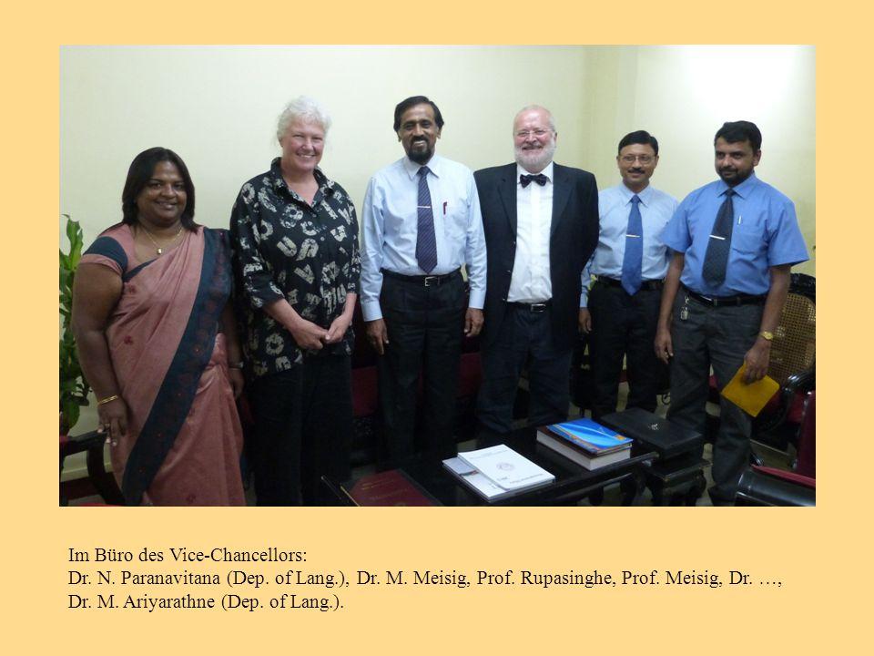 Im Büro des Vice-Chancellors: Dr. N. Paranavitana (Dep.