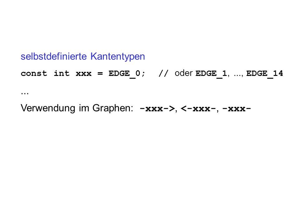 selbstdefinierte Kantentypen const int xxx = EDGE_0; // oder EDGE_1,..., EDGE_14...