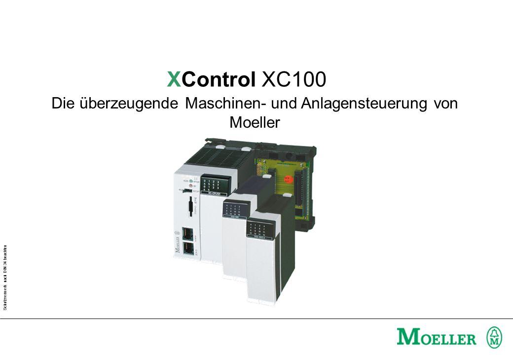 Schutzvermerk nach DIN 34 beachten Die überzeugende Maschinen- und Anlagensteuerung von Moeller XControl XC100