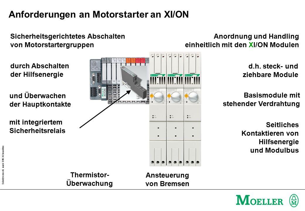 Schutzvermerk nach DIN 34 beachten Seitliches Kontaktieren von Hilfsenergie und Modulbus Basismodule mit stehender Verdrahtung d.h.