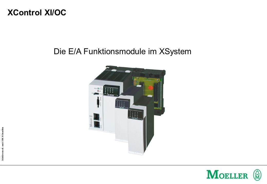 Schutzvermerk nach DIN 34 beachten Die E/A Funktionsmodule im XSystem XControl XI/OC
