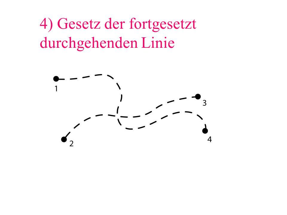 4) Gesetz der fortgesetzt durchgehenden Linie
