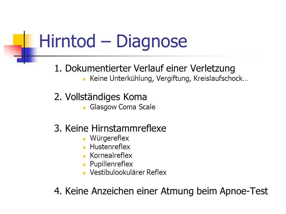 Hirntod – Diagnose 1.