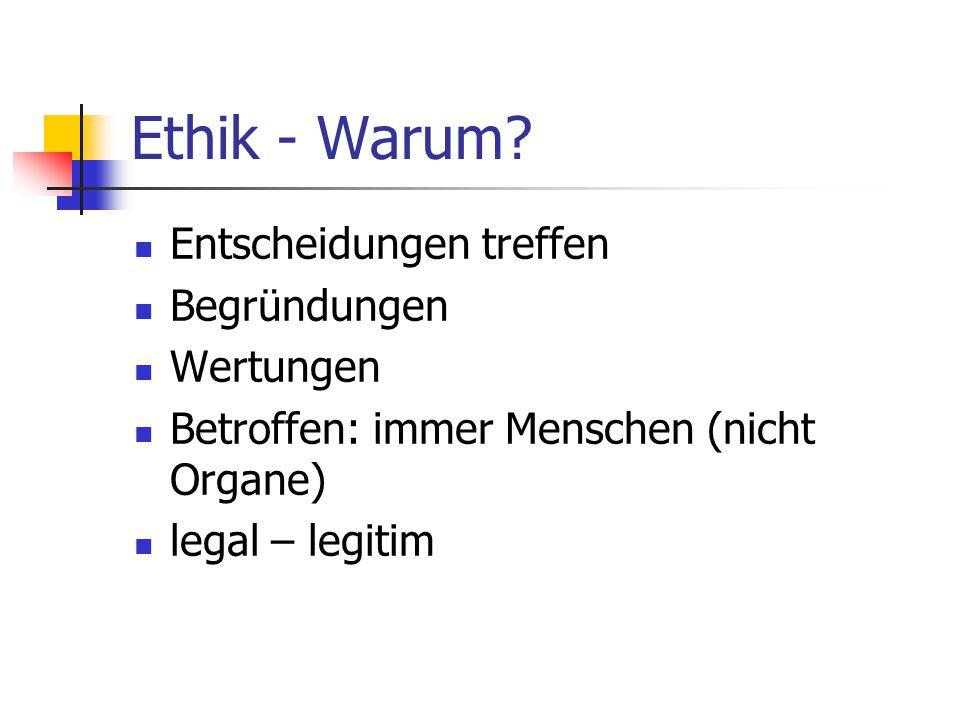Ethik - Warum.