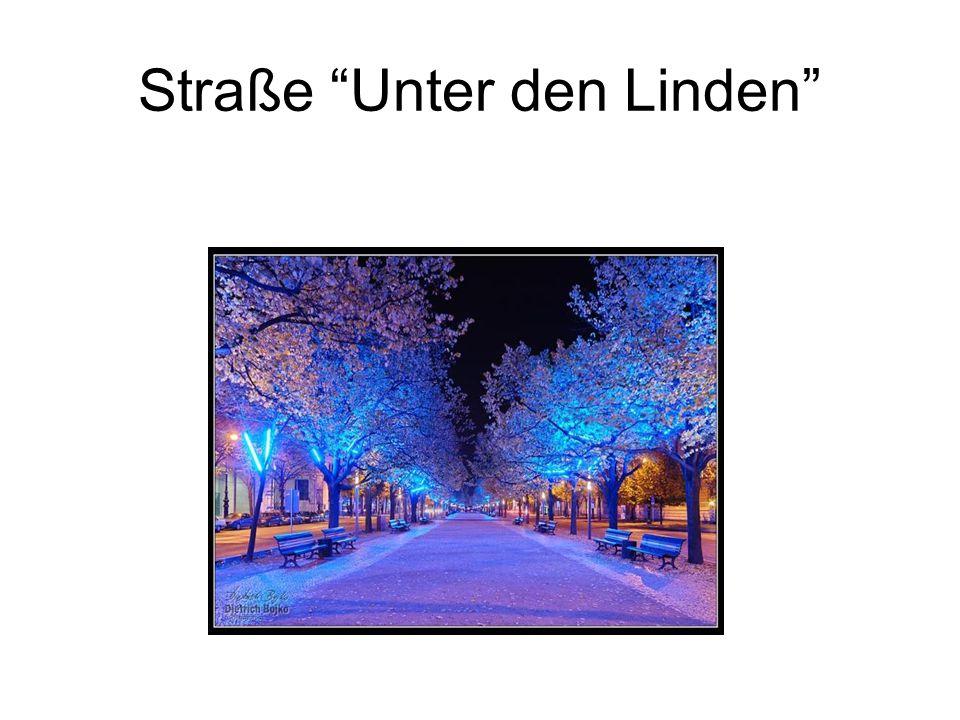 """Straße """"Unter den Linden"""""""