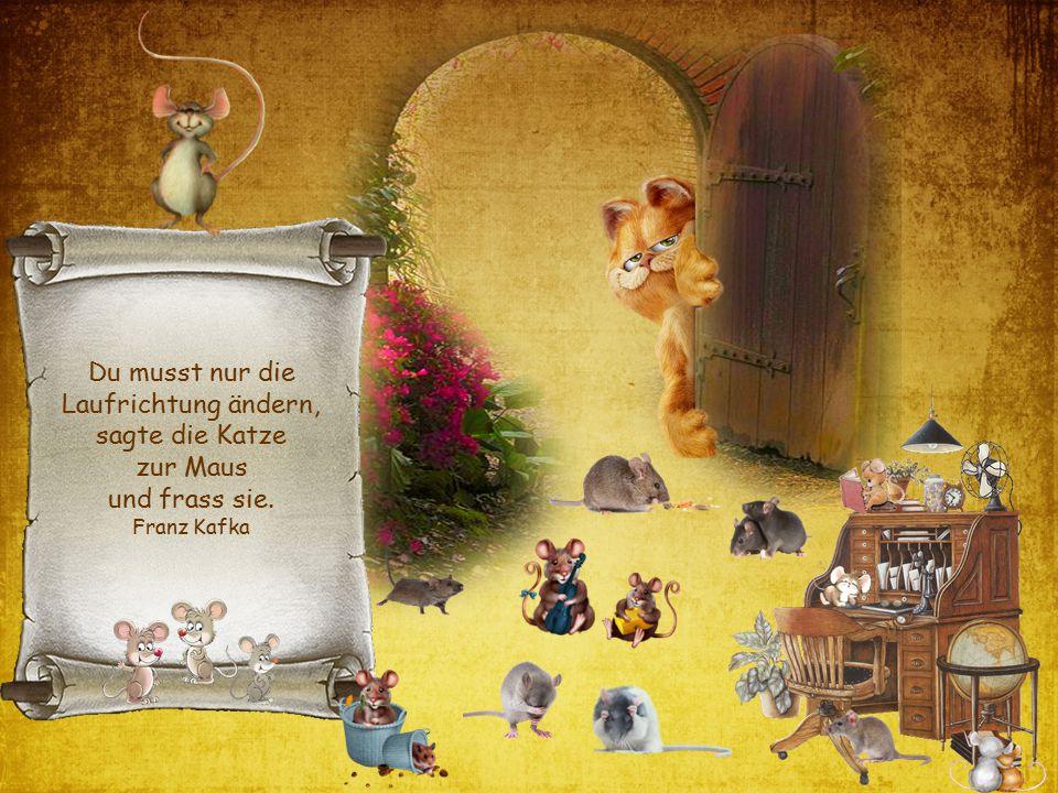 Du musst nur die Laufrichtung ändern, sagte die Katze zur Maus und frass sie. Franz Kafka