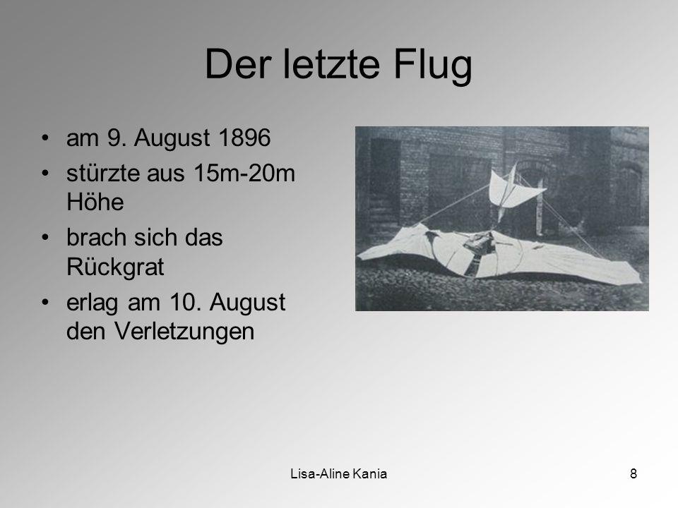 Lisa-Aline Kania8 Der letzte Flug am 9.