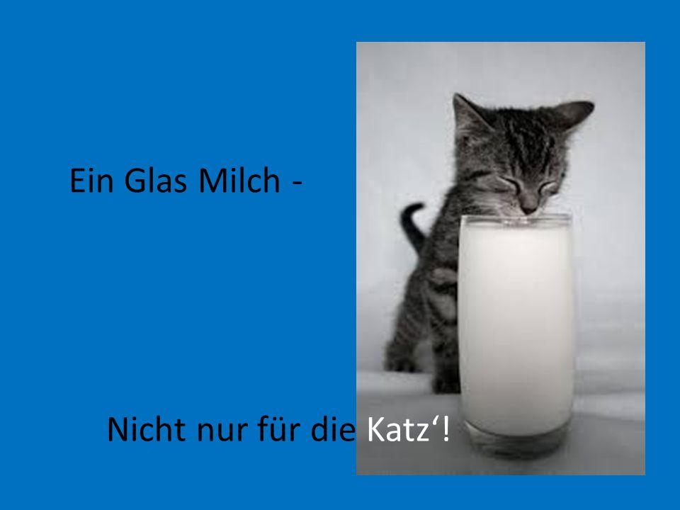 Nicht nur für die Katz'! Ein Glas Milch -