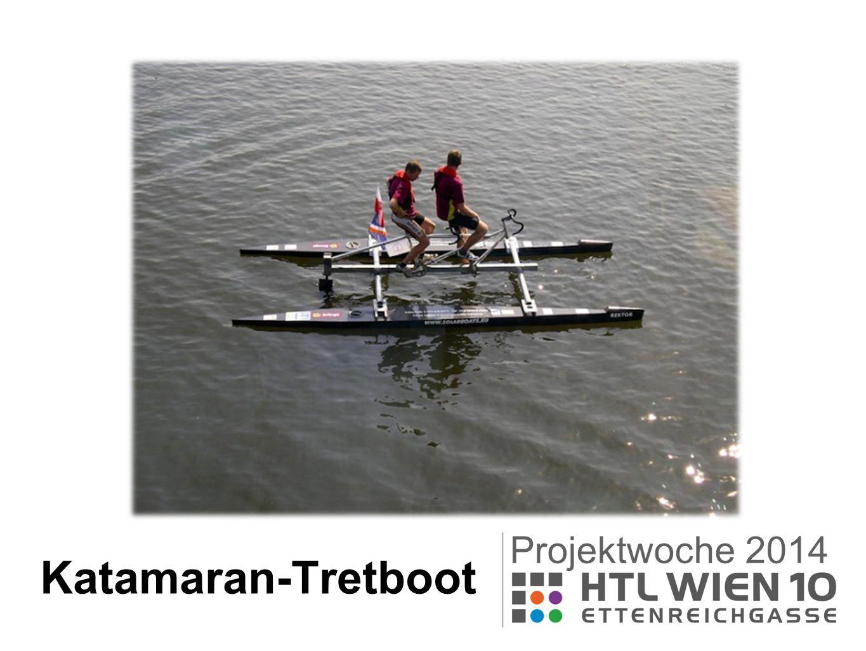 Katamaran-Tretboot Projektwoche 2014