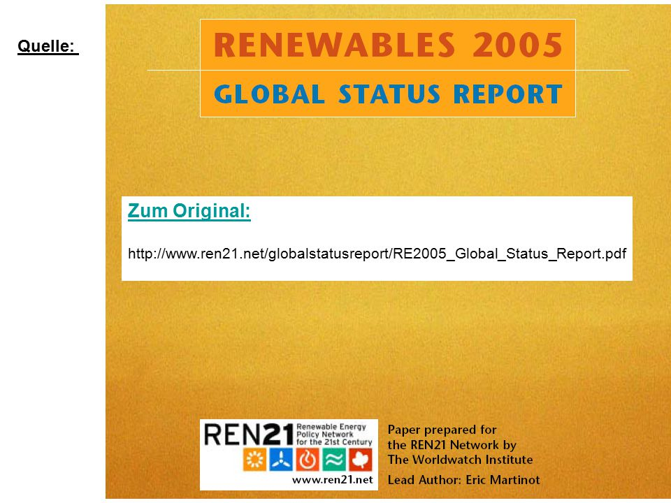 "Martinot e.a. : ""Renewables2005_GlobalStatusReport Fig.8, p.11 Austria !!"
