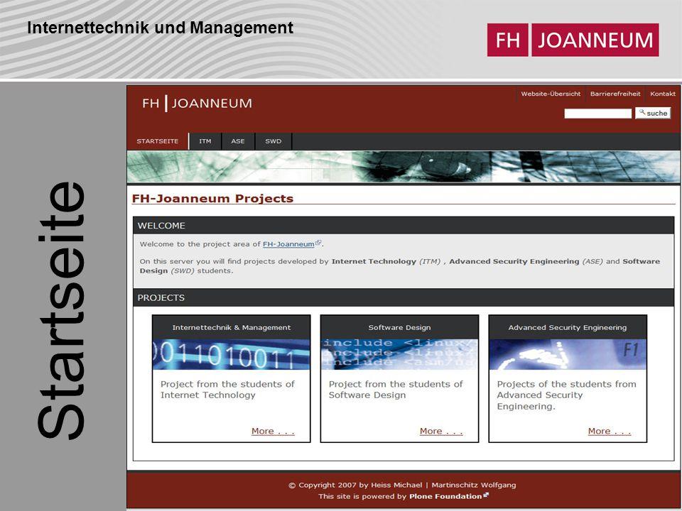 Internettechnik und Management Startseite