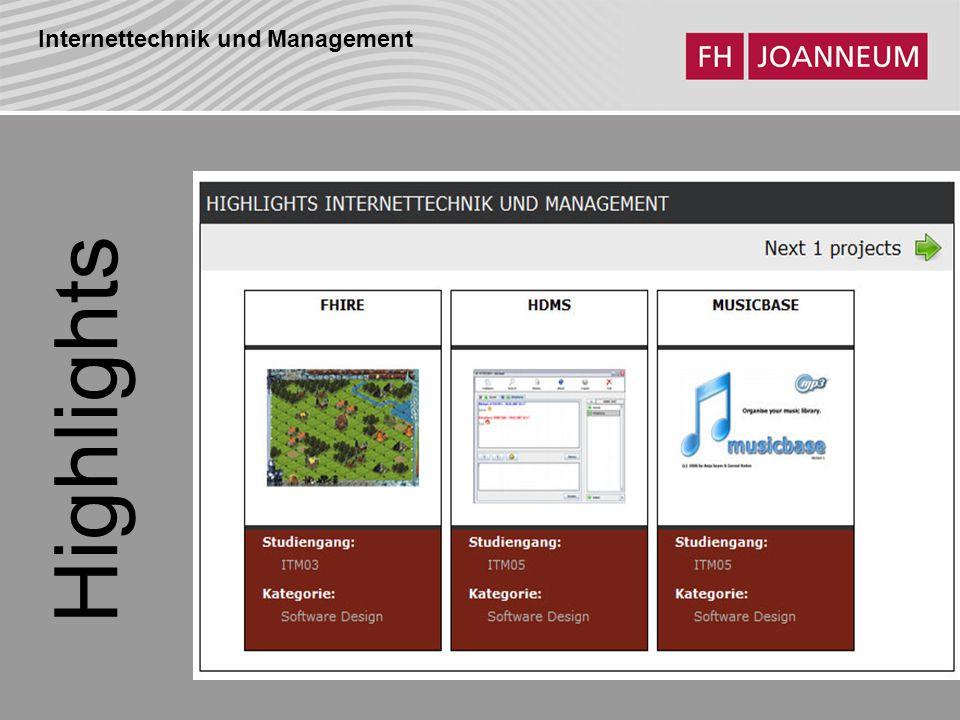 Internettechnik und Management ITM05 Ansicht