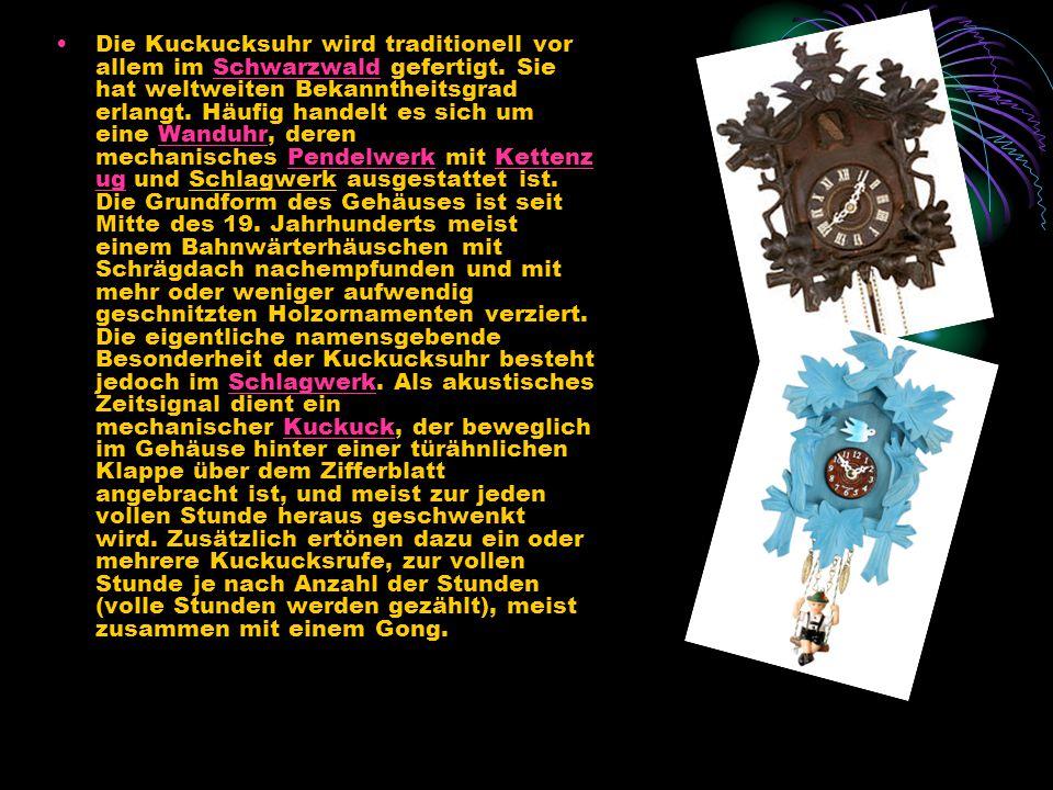 """Der """"Kuckucksruf wird traditionell durch ein Paar unterschiedlich hoher Orgelpfeifen im Inneren der Uhr erzeugt."""