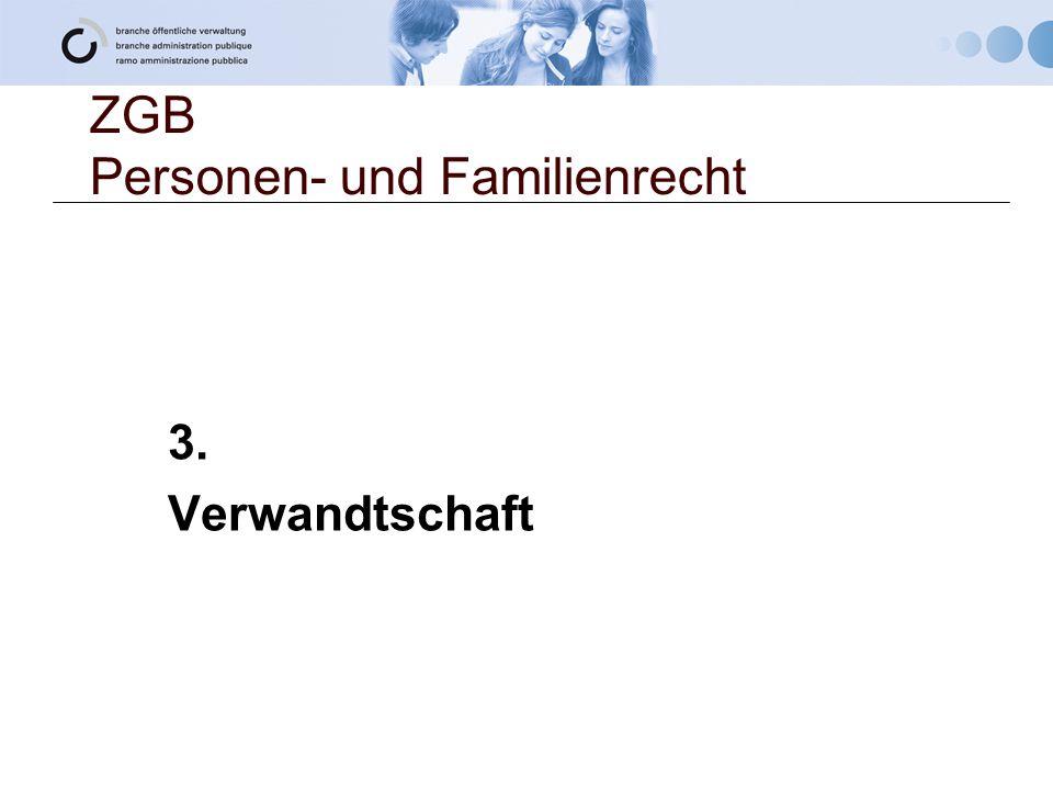 ZGB Personen- und Familienrecht 3. Verwandtschaft