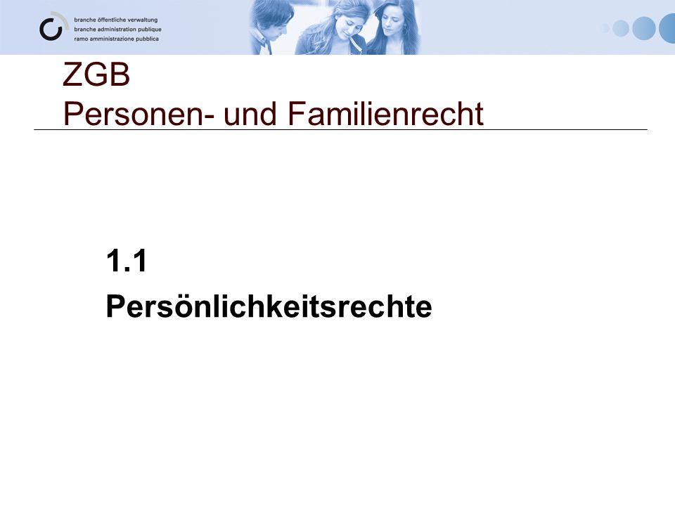 ZGB Personen- und Familienrecht 3.1 Kindesverhältnis