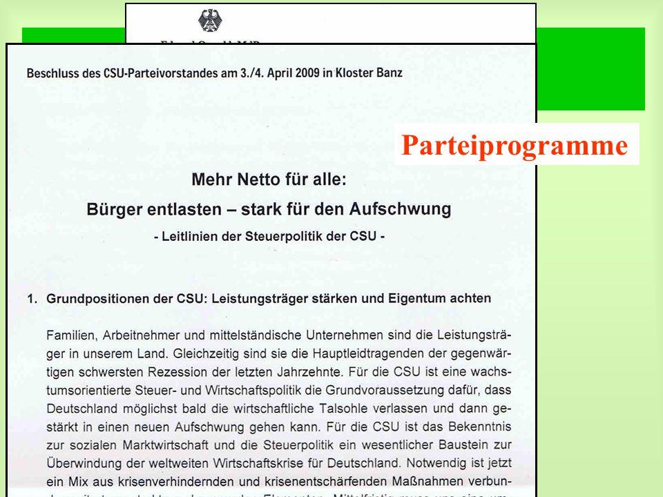 DGfM e.V. Sonder – PR - Kampagne Parteiprogramme