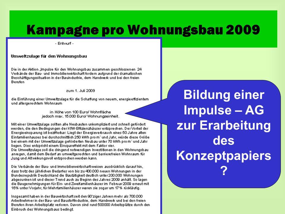 Bildung einer Impulse – AG zur Erarbeitung des Konzeptpapiers