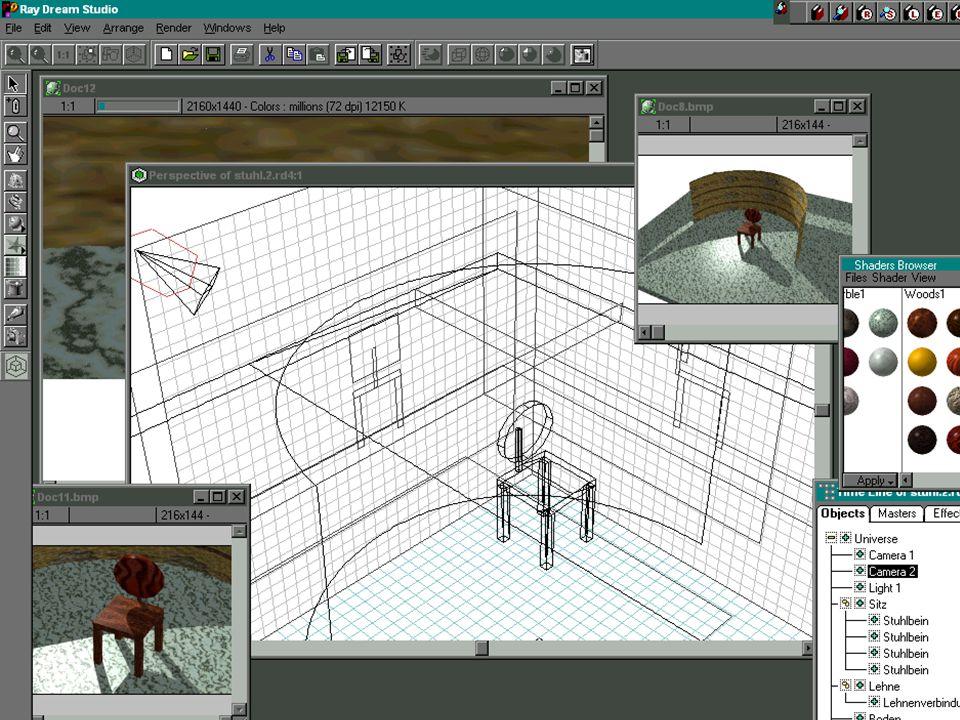 Martin Kurze:Multimedia und VR Multimedia in 3DFolie 12 19.05.99 Modellieren (2)