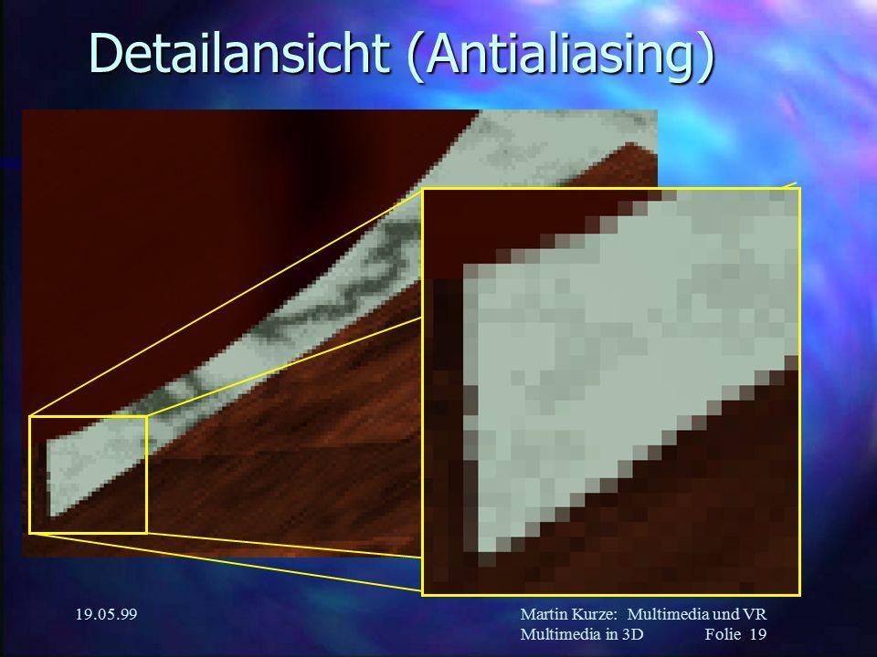 Martin Kurze:Multimedia und VR Multimedia in 3DFolie 19 19.05.99 Detailansicht (Antialiasing)