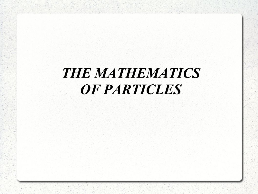 Ein Partikel - hat eine Position, aber keine Ausrichtung.
