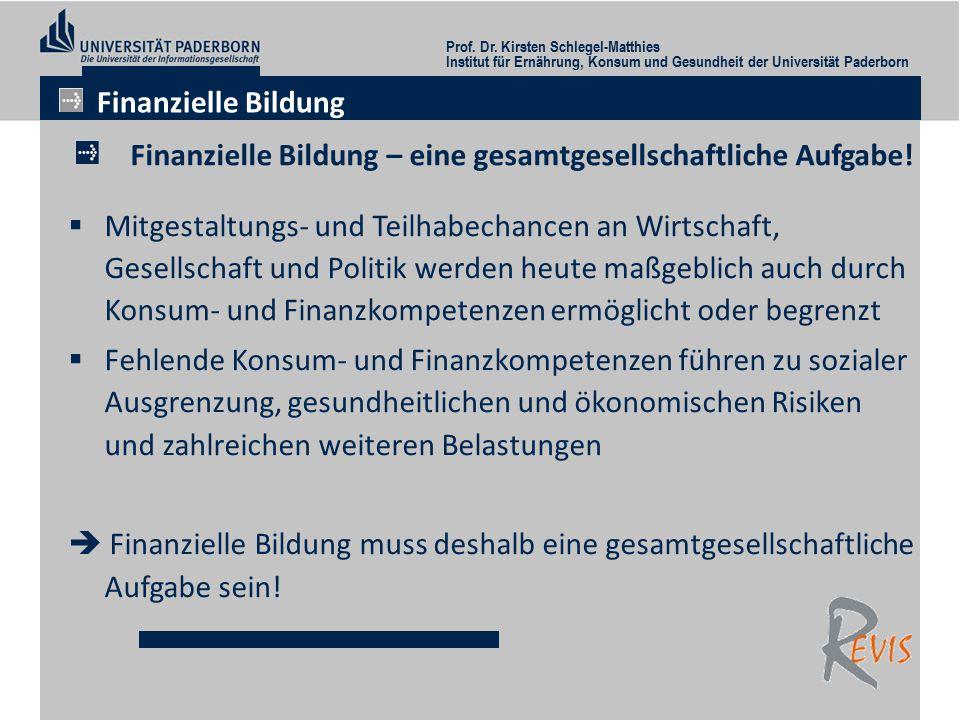 Finanzielle Bildung – eine gesamtgesellschaftliche Aufgabe.