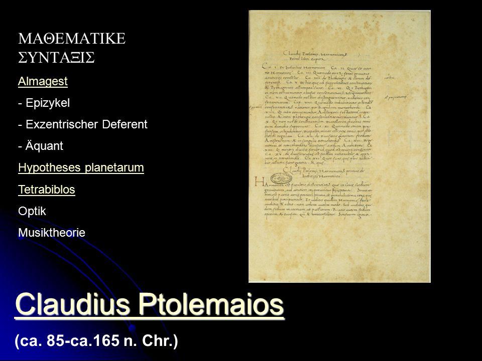 Claudius Ptolemaios Claudius Ptolemaios (ca.85-ca.165 n.