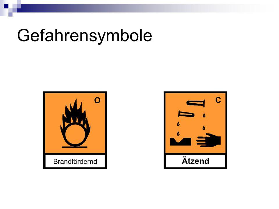 R/S Sätze R8 Feuergafahr bei Berührung mit brennbaren Stoffen.