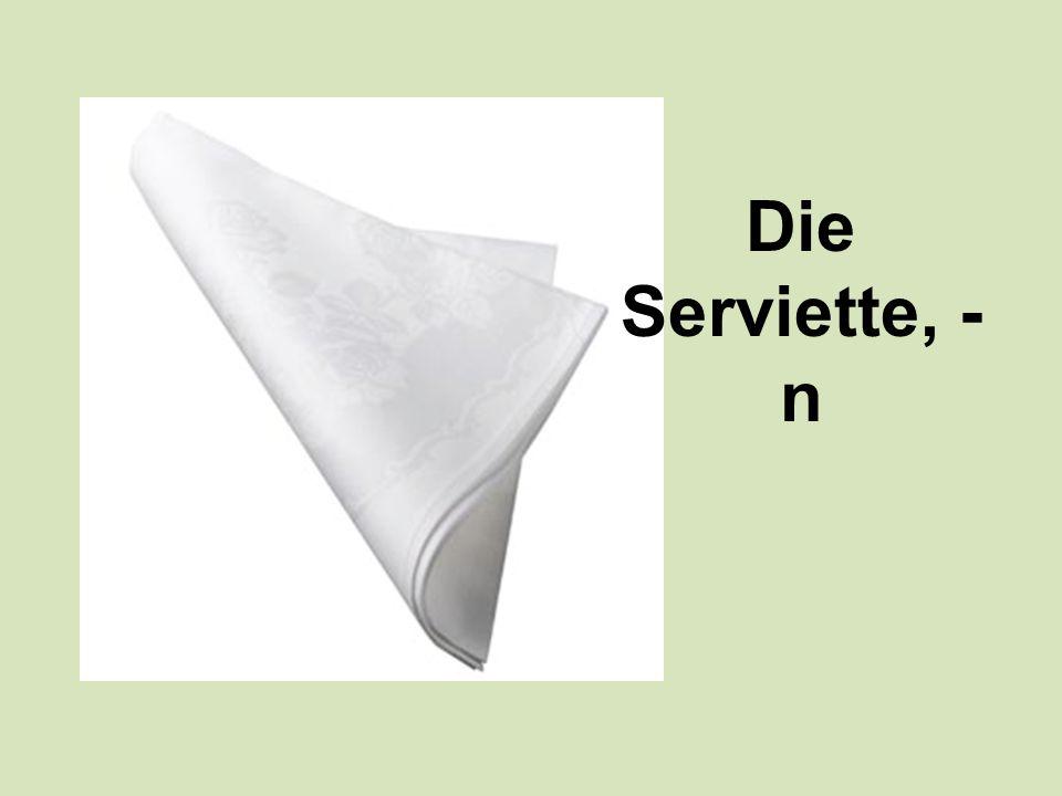 Die Serviette, - n