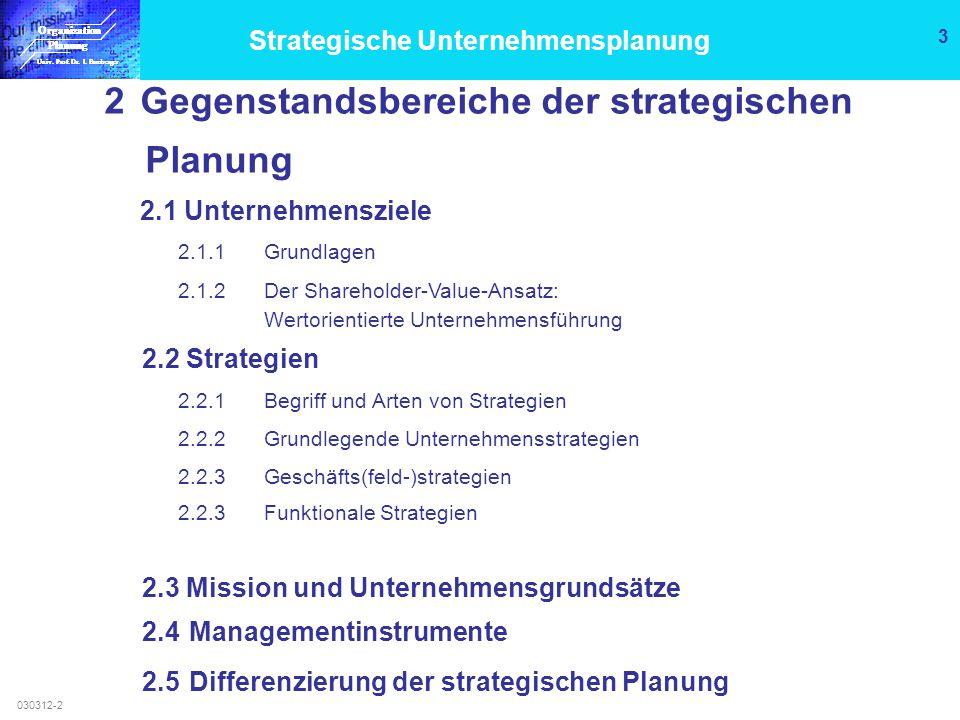 Organisation Planung Univ.Prof. Dr. I. Bamberger Organisation Planung Univ.