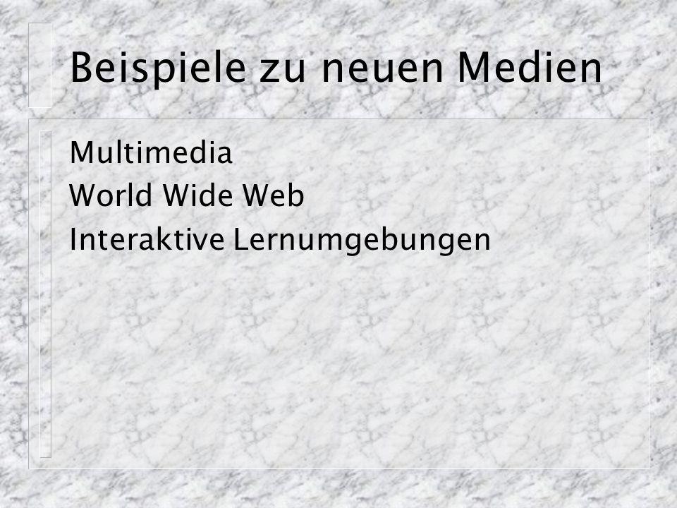 Implementation von Multimedia Vorteile und Nachteile von WWW und/oder PC Web: Leichte Distribution, geringe Datenrate PC Schwierige Distribution, hohe Datenrate