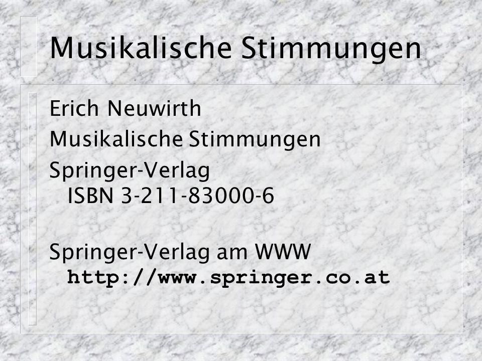 Beispiele am WWW http://sunsite.univie.ac.at