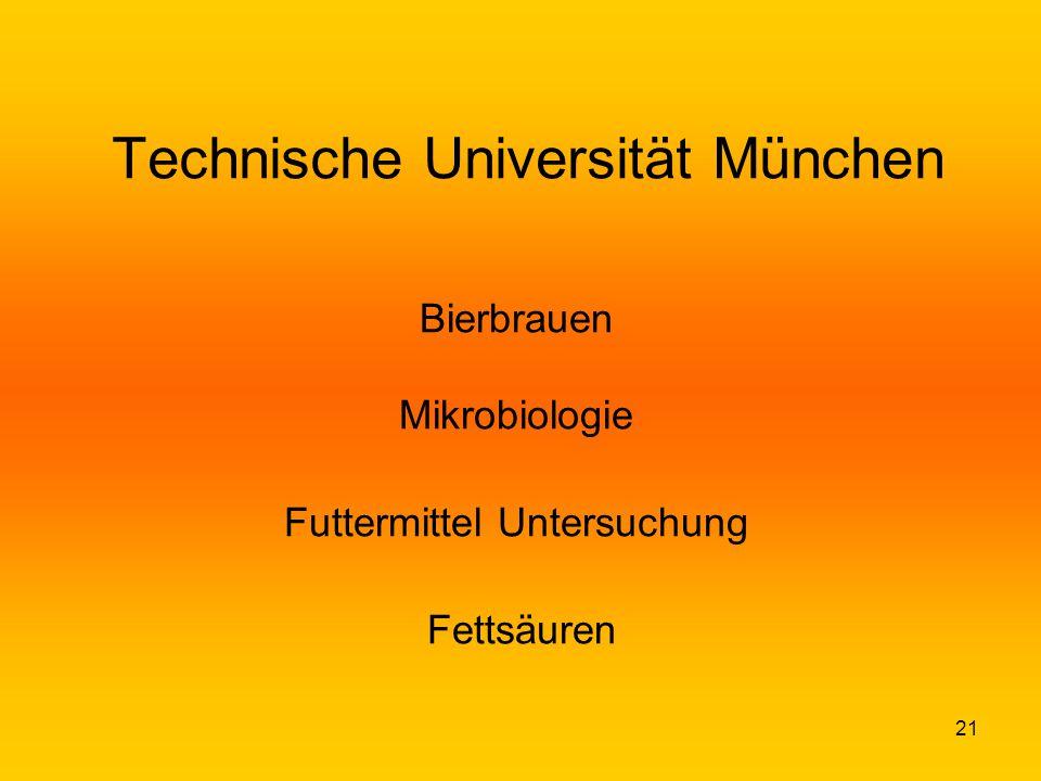 21 Technische Universität München Bierbrauen Mikrobiologie Futtermittel Untersuchung Fettsäuren