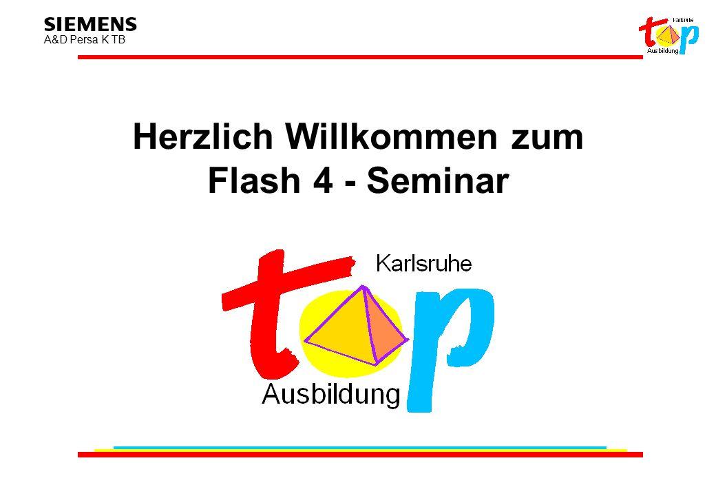 A&D Persa K TB Herzlich Willkommen zum Flash 4 - Seminar