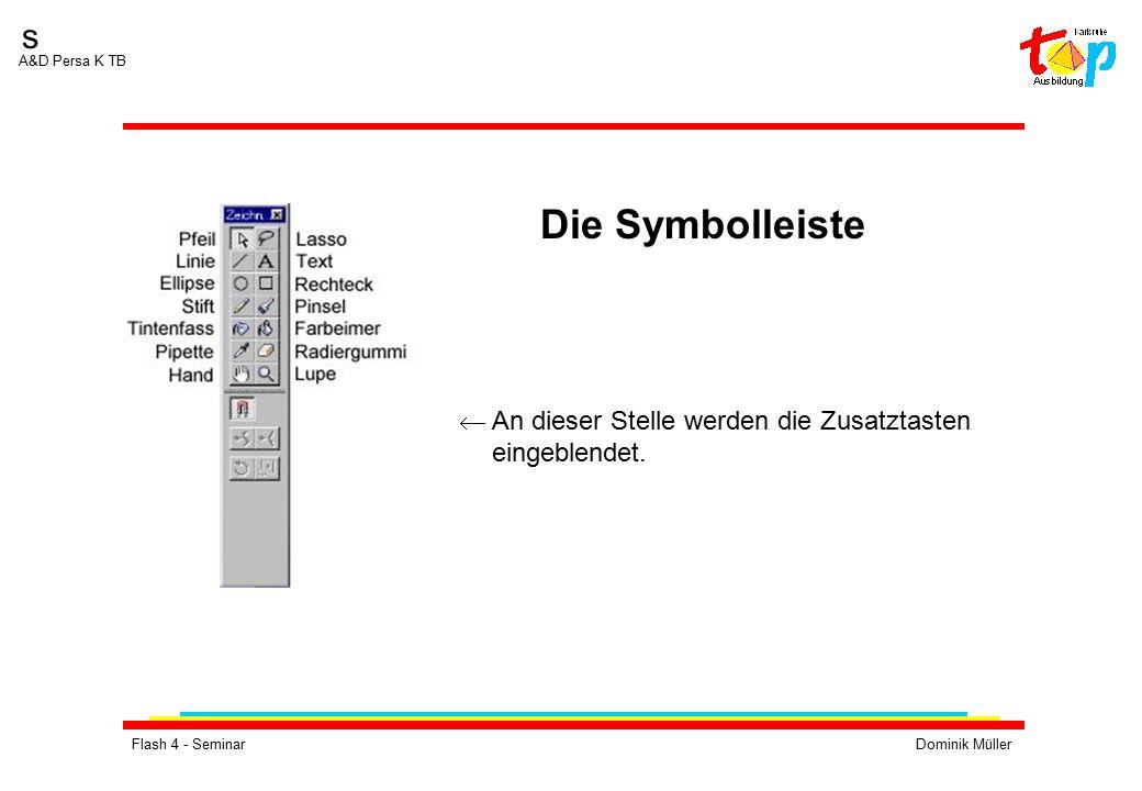 Flash 4 - SeminarDominik Müller s A&D Persa K TB  An dieser Stelle werden die Zusatztasten eingeblendet. Die Symbolleiste