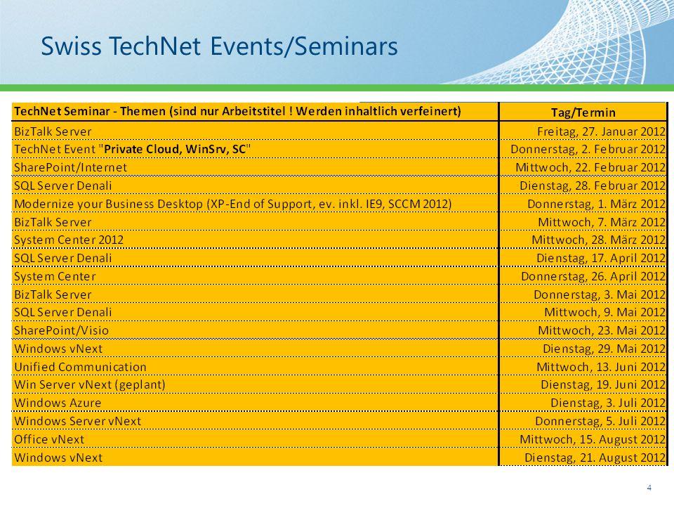 Today's TechNet Seminar AgendaDiverses Roger Breu, Microsoft Bernd Schneider, Microsoft Dr.