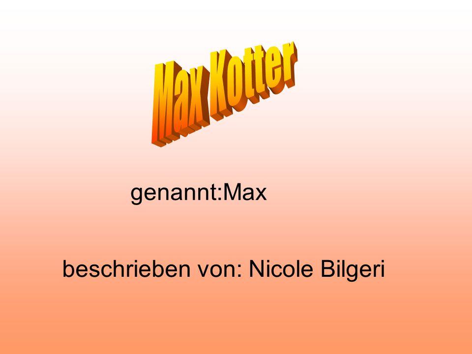 genannt:Max beschrieben von: Nicole Bilgeri