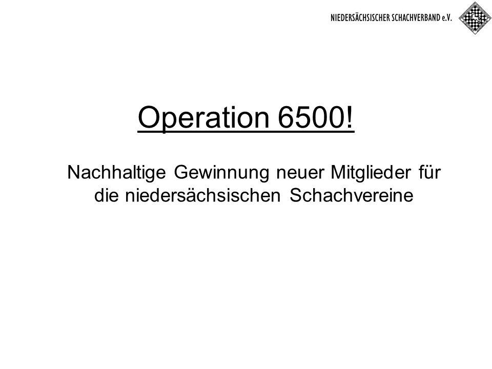 Operation 6500! Nachhaltige Gewinnung neuer Mitglieder für die niedersächsischen Schachvereine