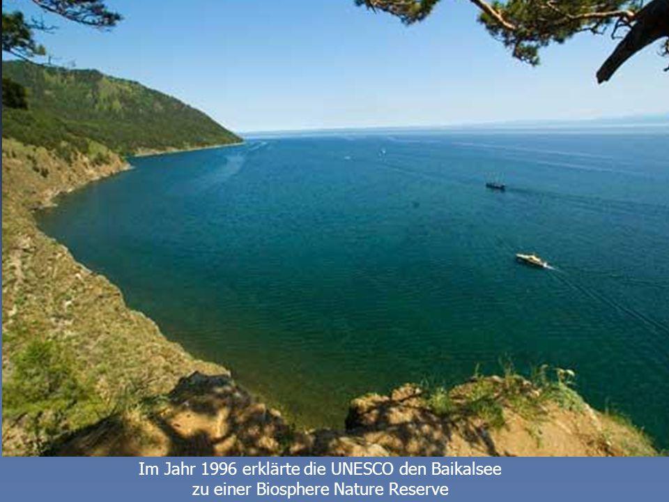 Im Jahr 1996 erklärte die UNESCO den Baikalsee zu einer Biosphere Nature Reserve