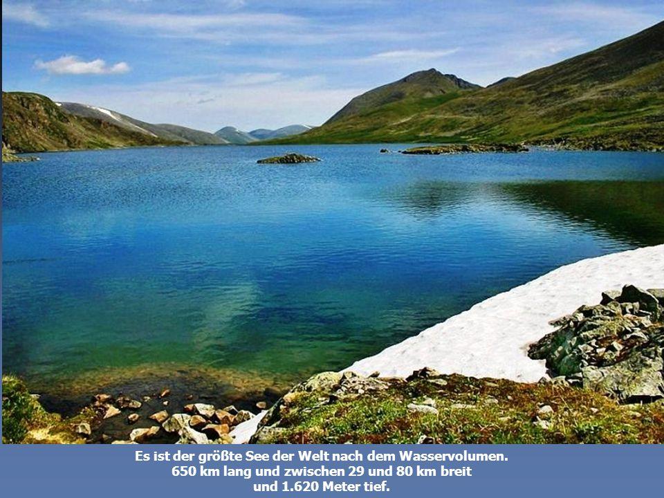 Alle Flüsse der Welt zusammen würden ein ganzes Jahr zum Füllen des Sees benötigen