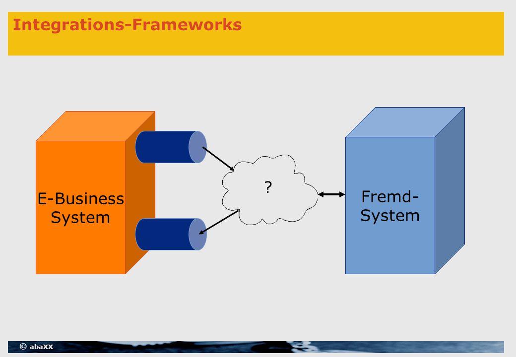 © abaXX Integrations-Frameworks E-Business System Fremd- System ?