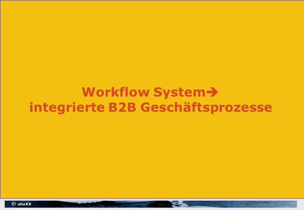 © abaXX Workflow System  integrierte B2B Geschäftsprozesse