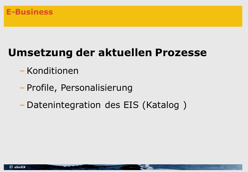 © abaXX Workflow mit J2EE / EJB 2.0 Build Time – Execution Objects » Session Beans oder Klassen  Implementieren der Interfaces Run Time –Process Manager –Requester –und ?.